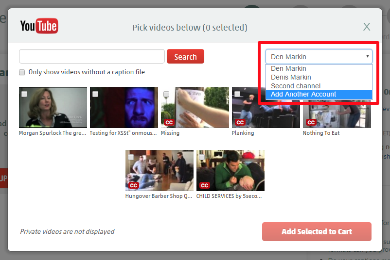 Using the YouTube Integration with Multiple YouTube Channels